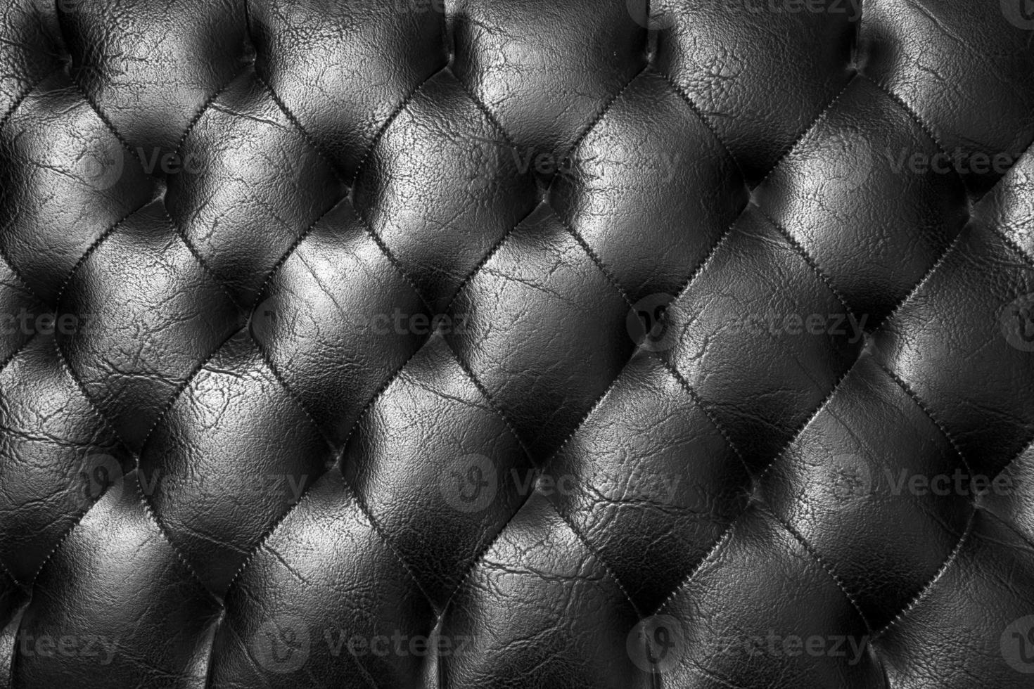 Tapicería negra. foto