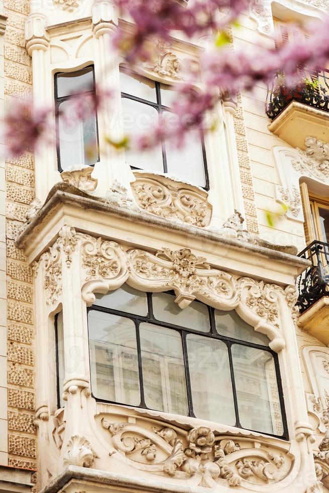close-up da casa pitoresca em madrid foto