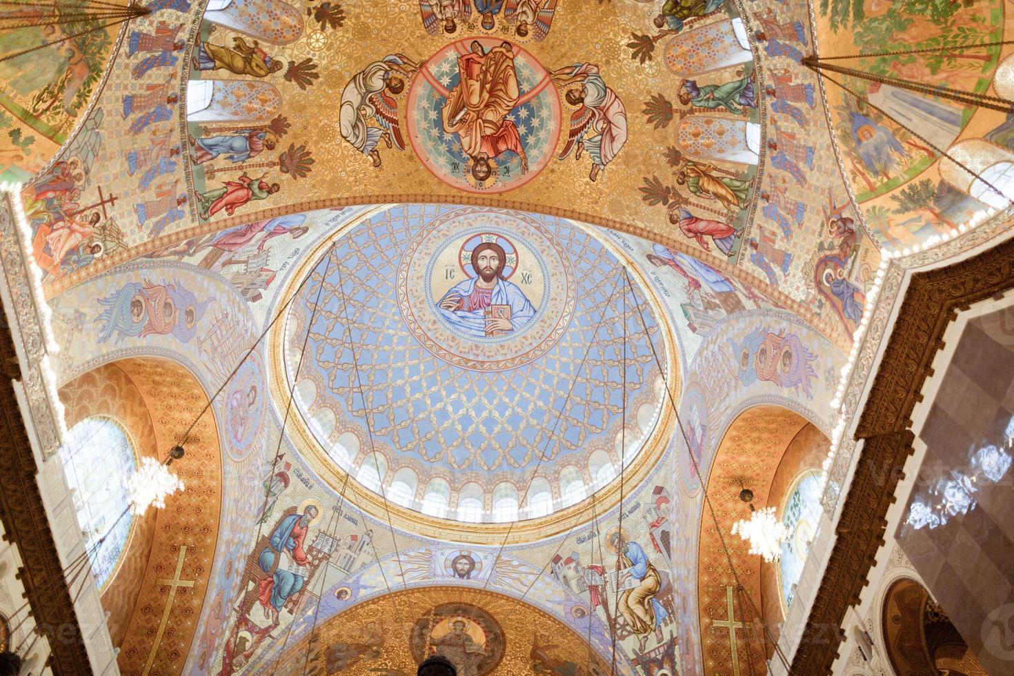 la pintura en la cúpula de la catedral del mar nikolsokgo foto