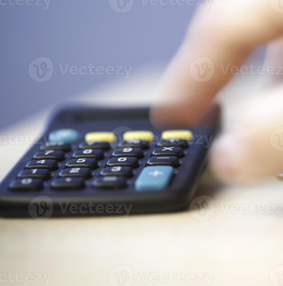 cálculos de dinheiro foto