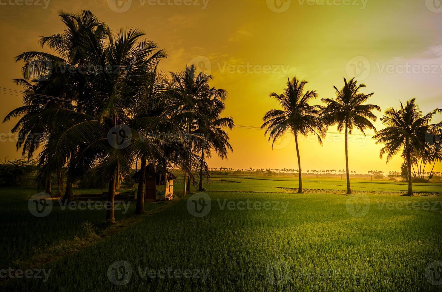 zonsondergang in indianendorp foto