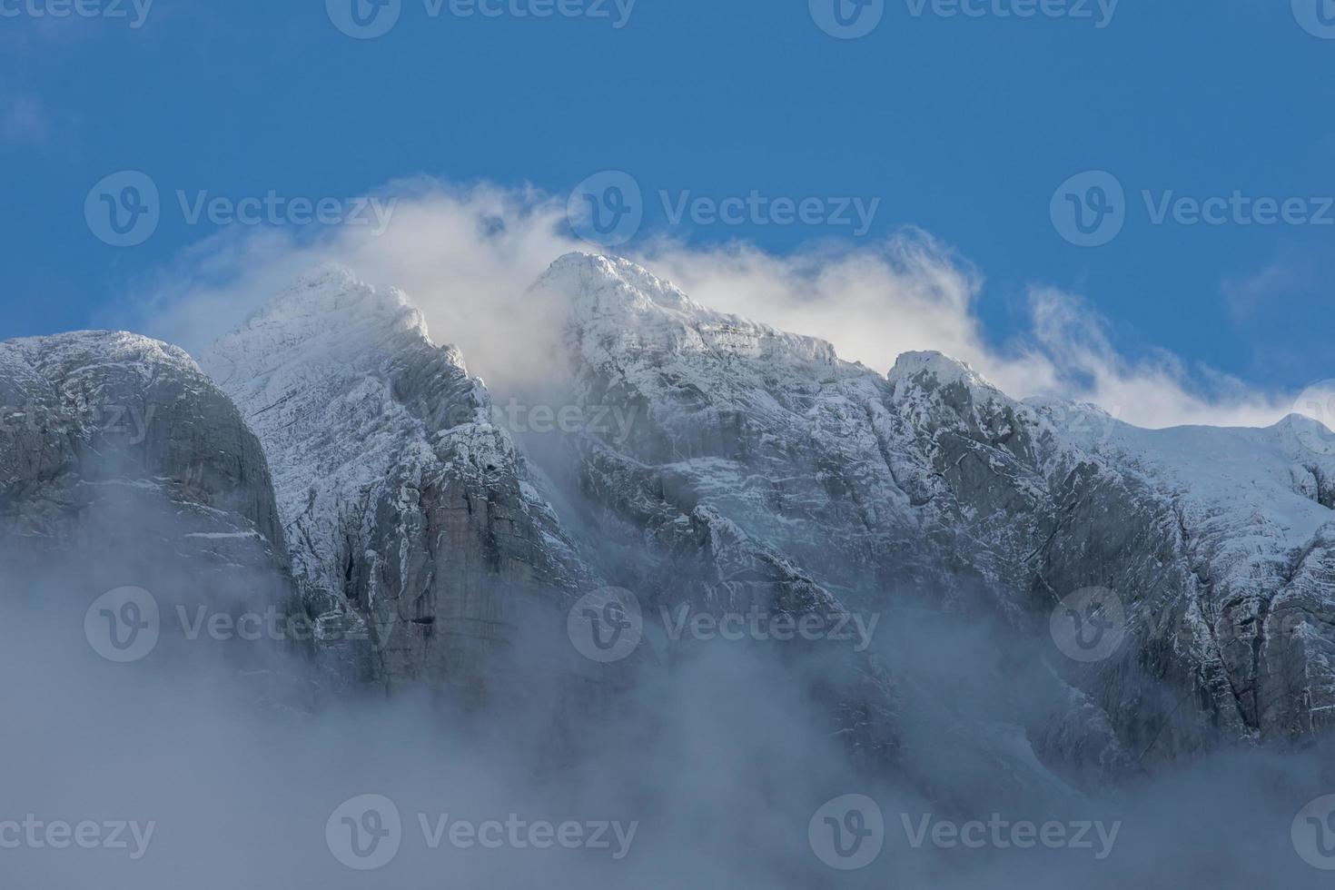 Alpes de invierno foto