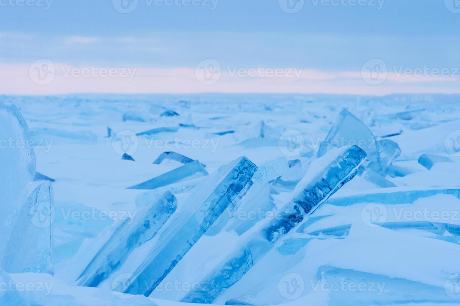 invierno del lago huron foto