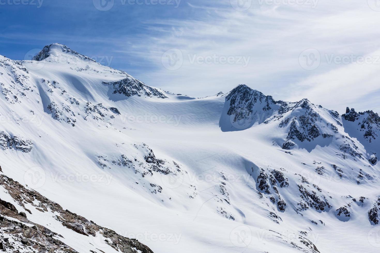 geleira de esqui stubai foto