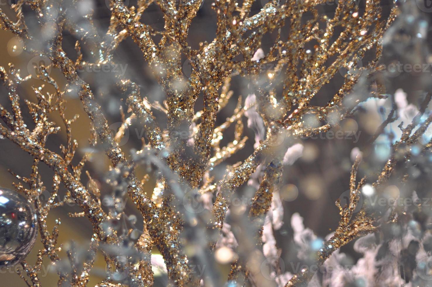 Fondo de invierno con ramas de hielo foto