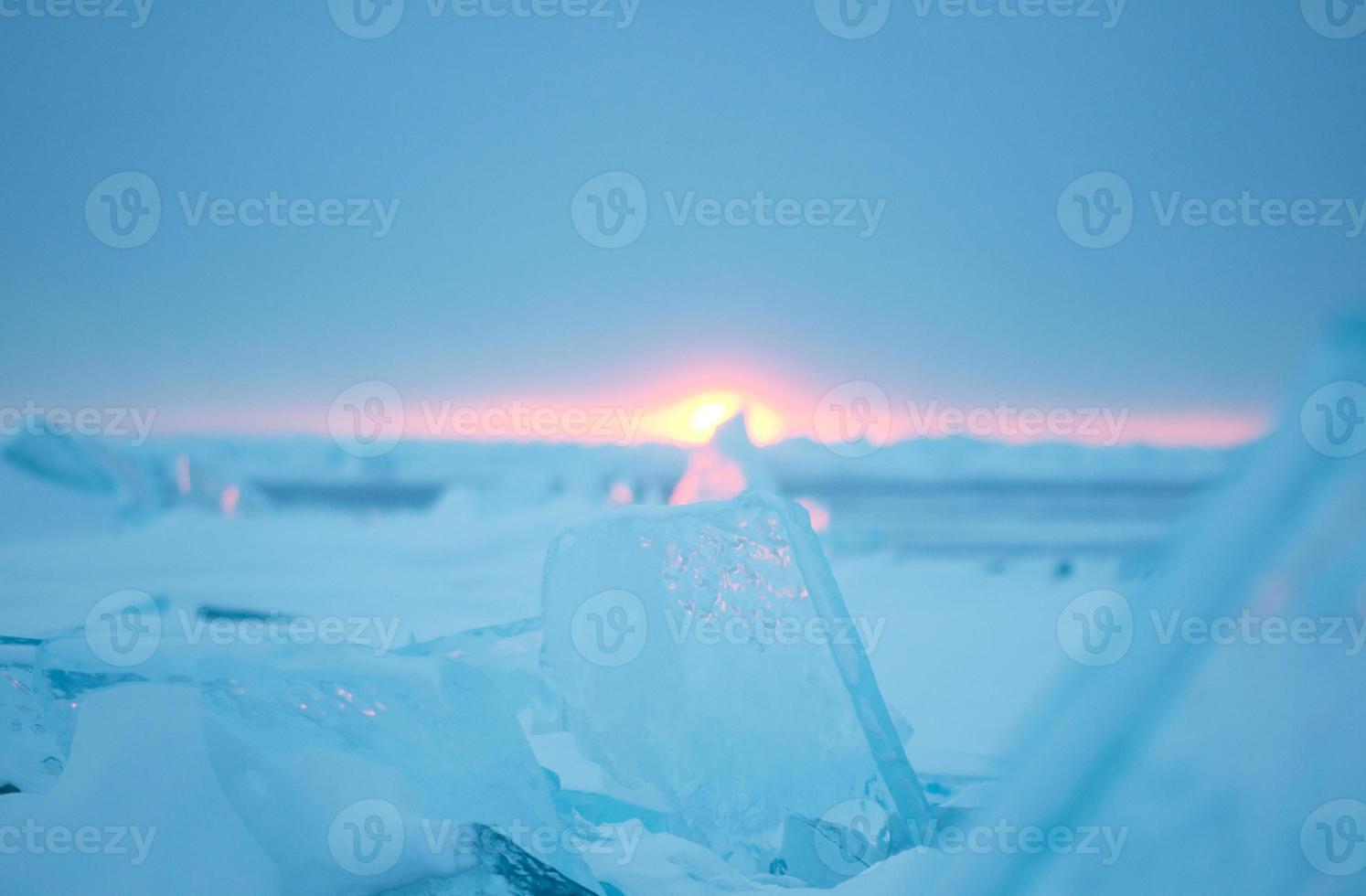 inverno do lago huron foto