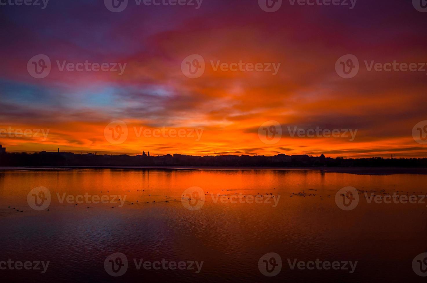 lago da cidade foto