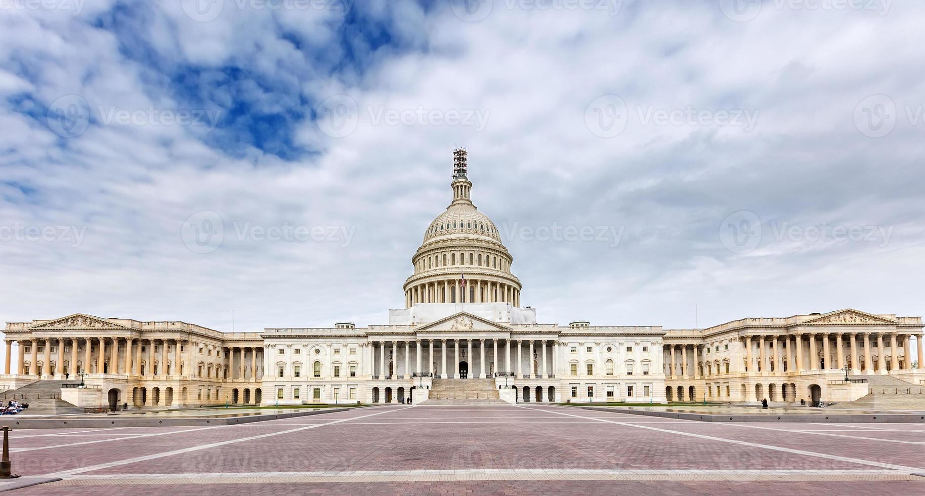 vista panorámica del capitolio de los Estados Unidos foto