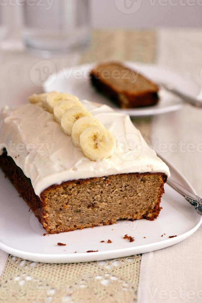 pan de banana con glaseado foto