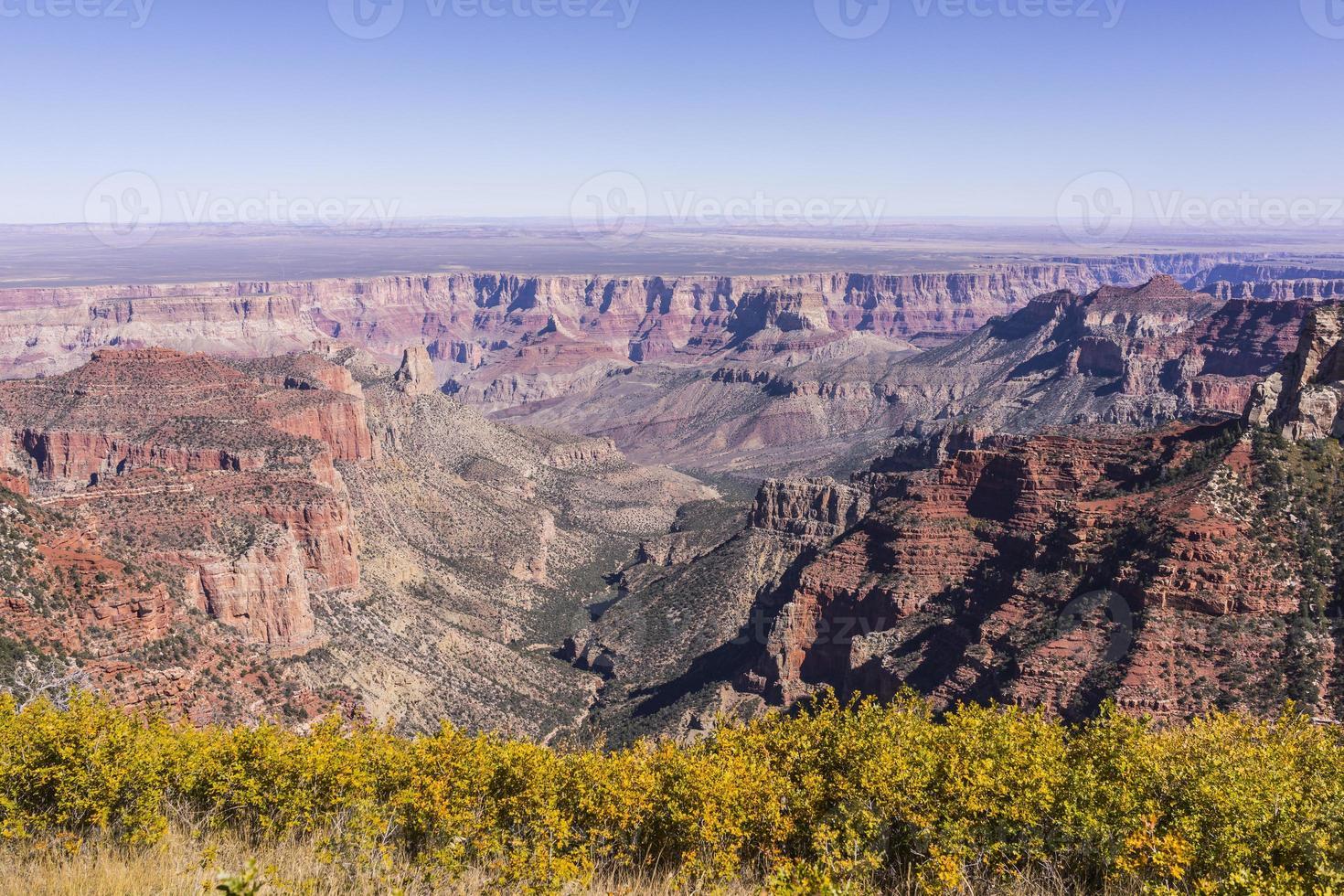 Parque Nacional del Gran Cañón. pasar por alto desde el punto roosevelt (borde norte) foto