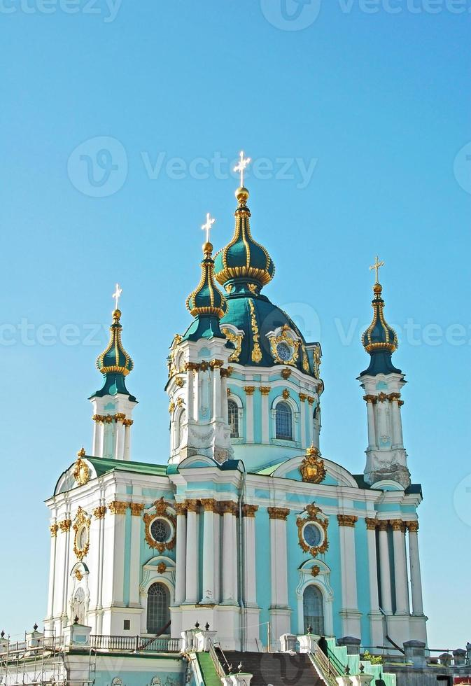 S t. la iglesia de andrew en kiev foto