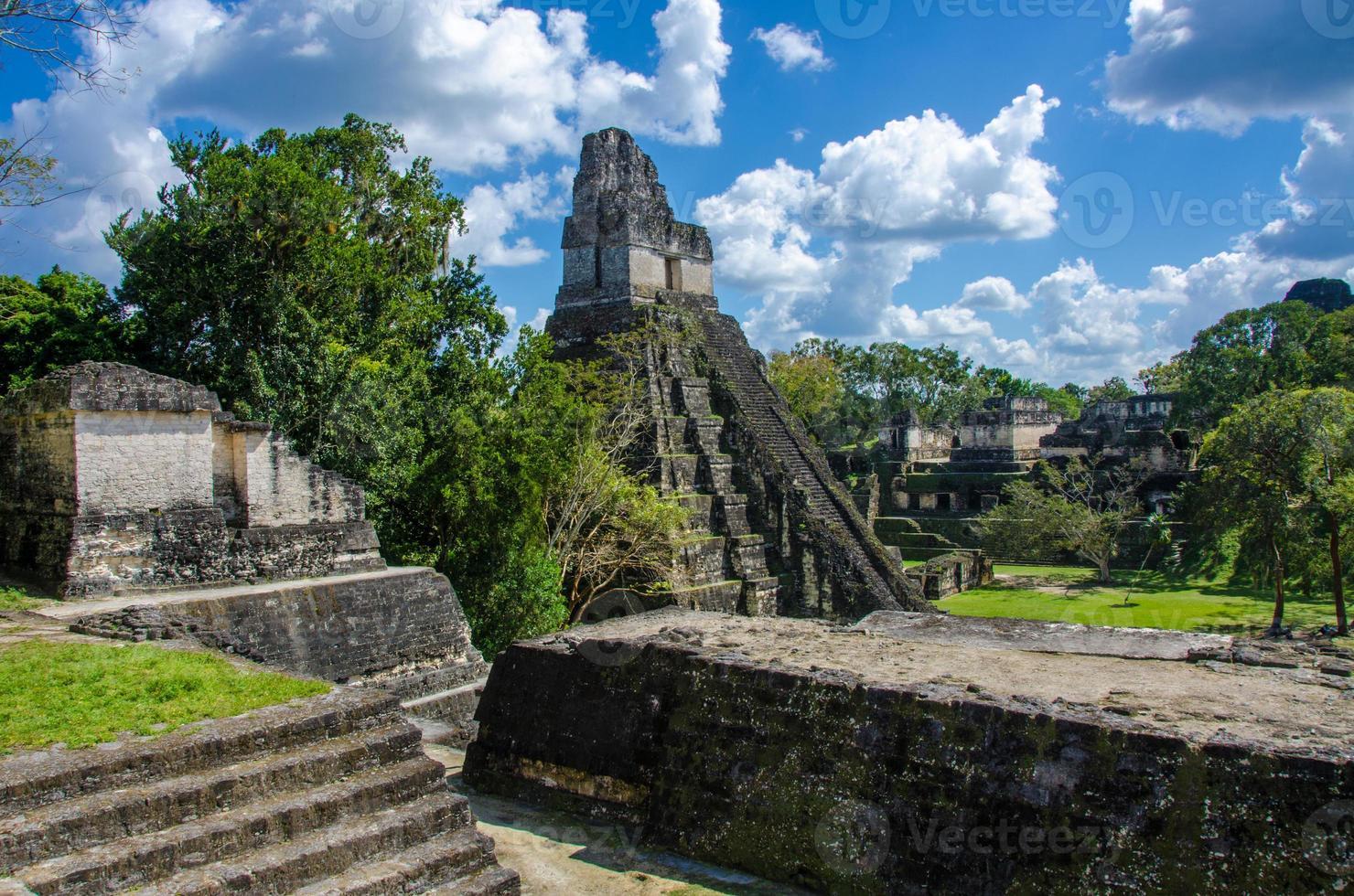 Tikal  Ruins and pyramids photo