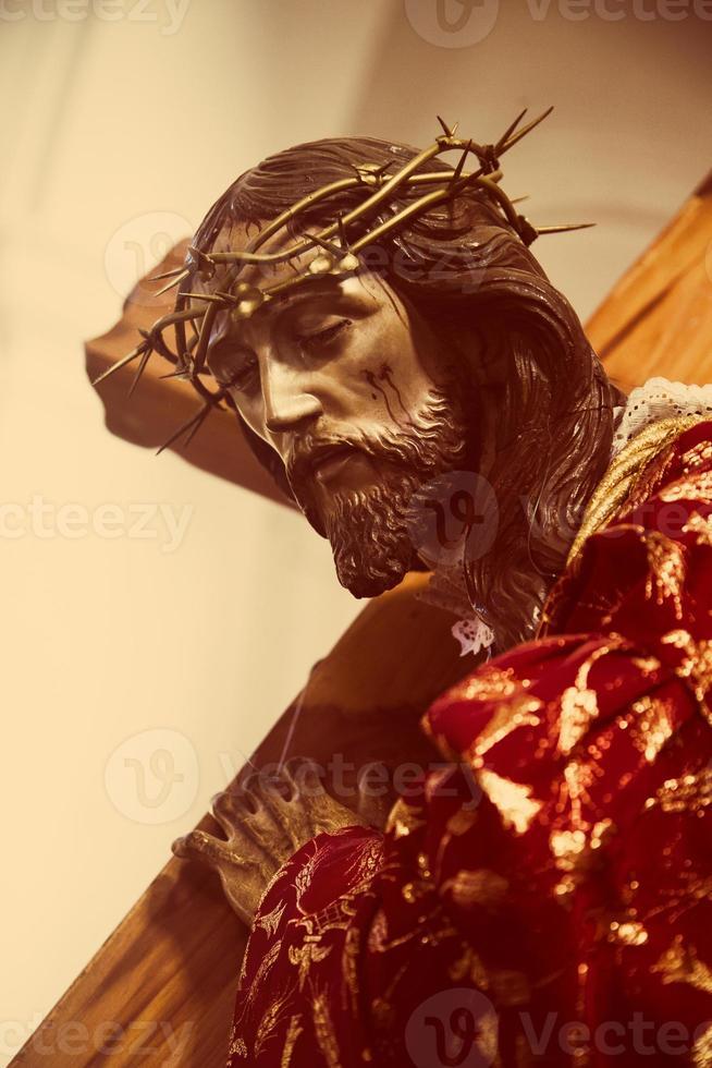 jesus carrying the cross photo