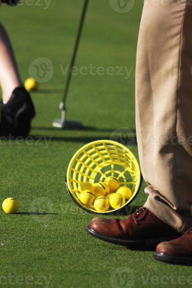en un campo de golf foto