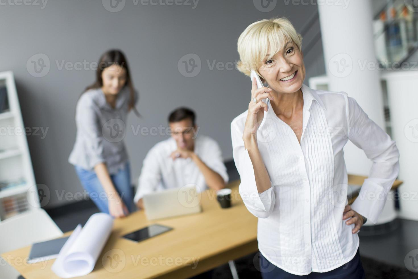 Woman in the office photo