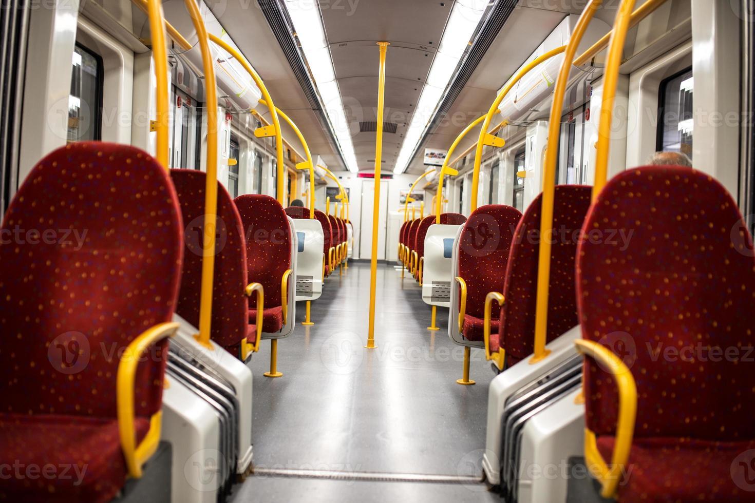 Subway train interior photo
