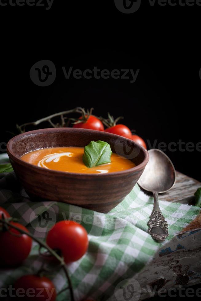 sopa de tomate foto