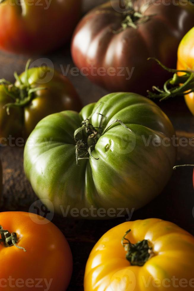 Colorful Organic Heirloom Tomatoes photo
