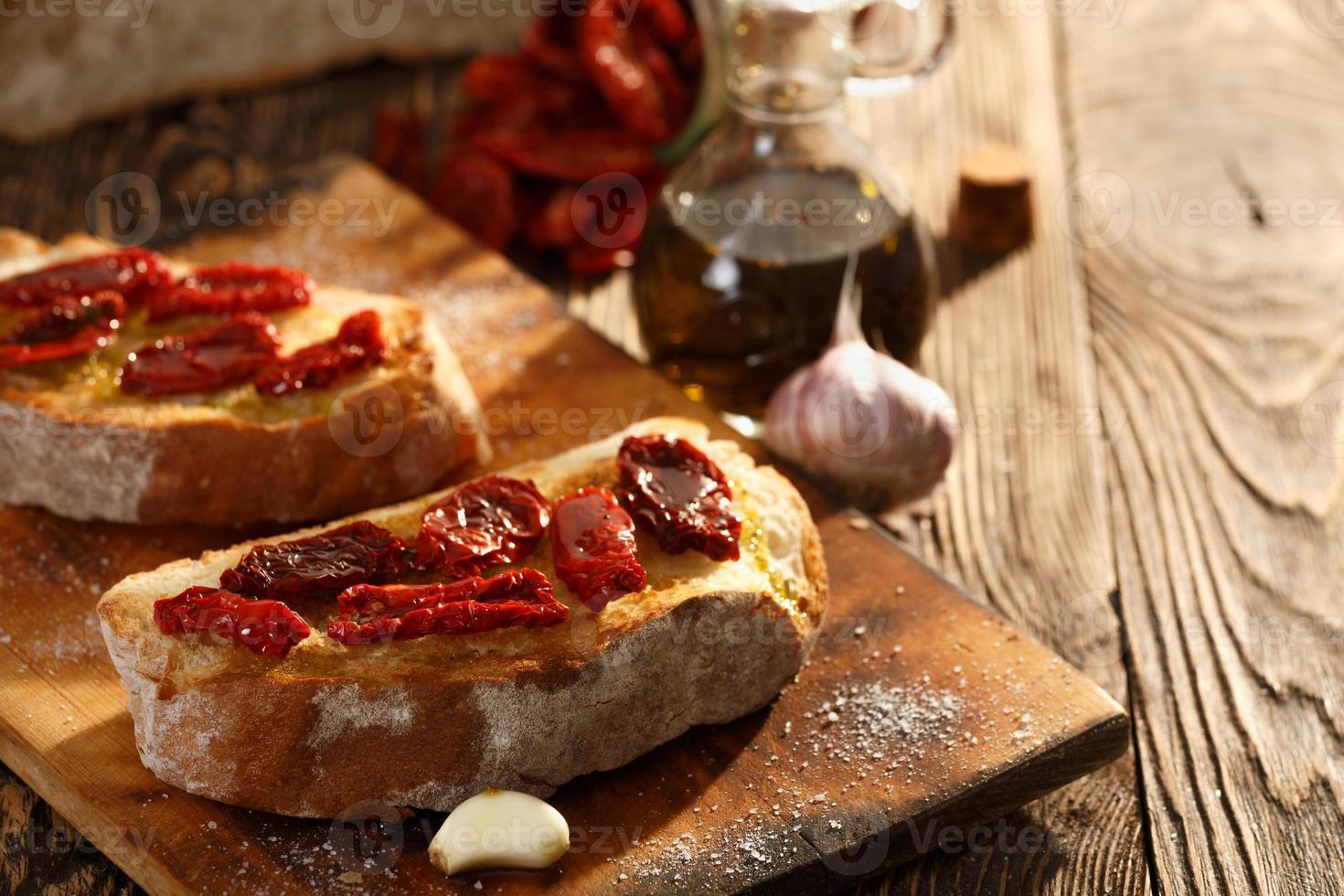 Bruschetta with tomato photo