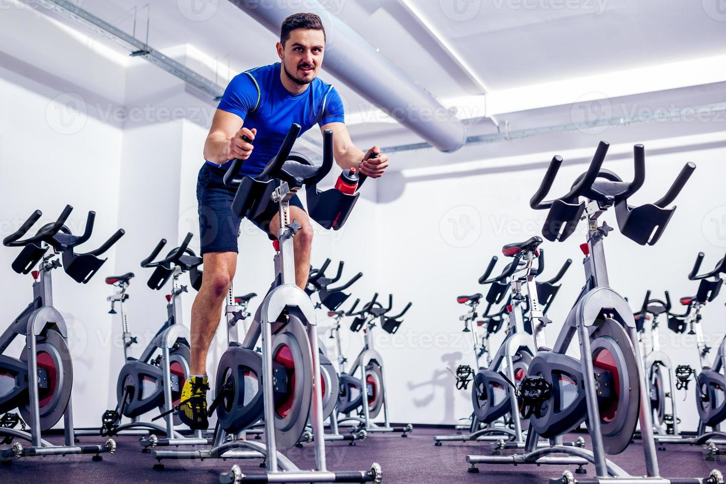 exercising Instructor at Gym photo