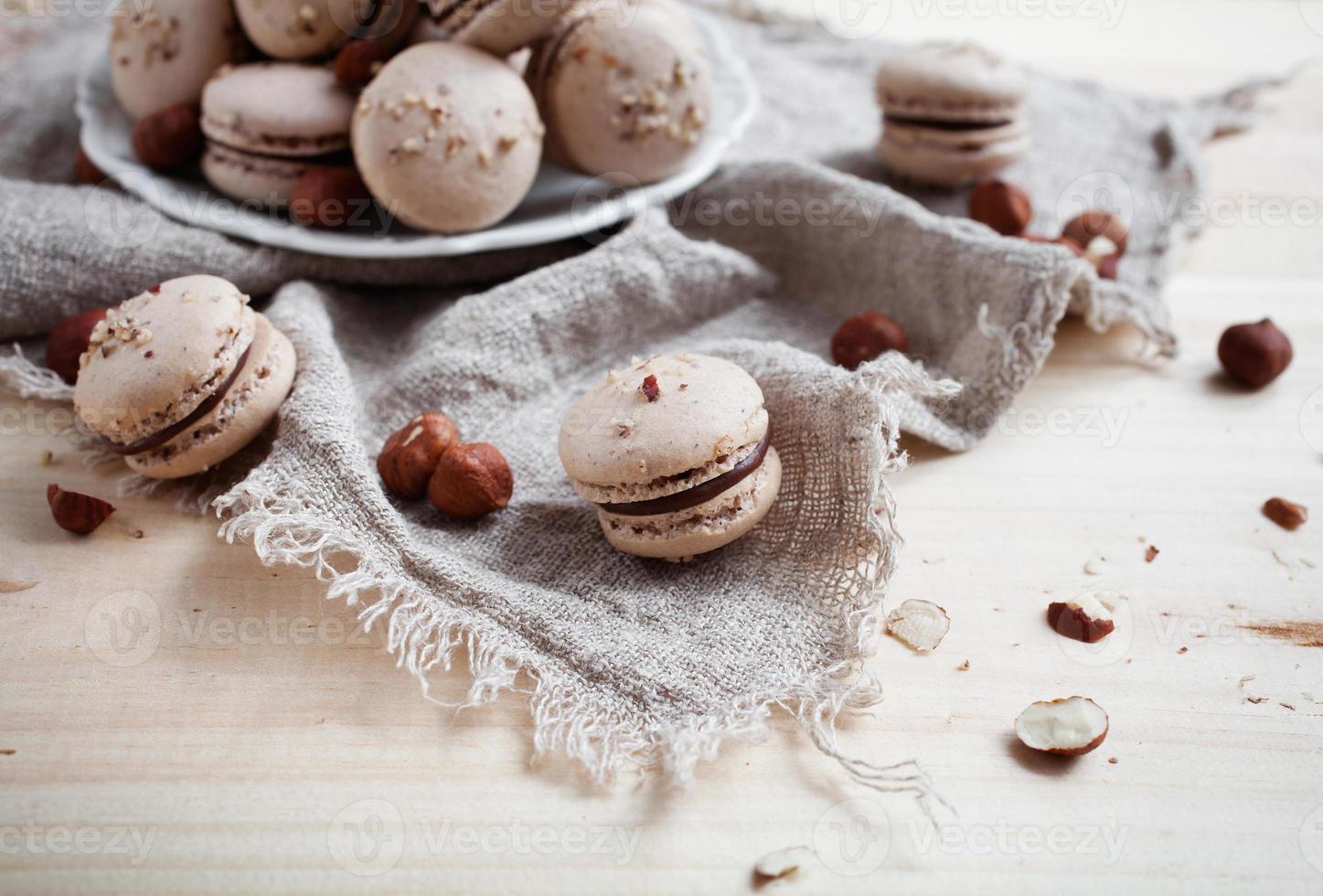 Baking macaroons photo