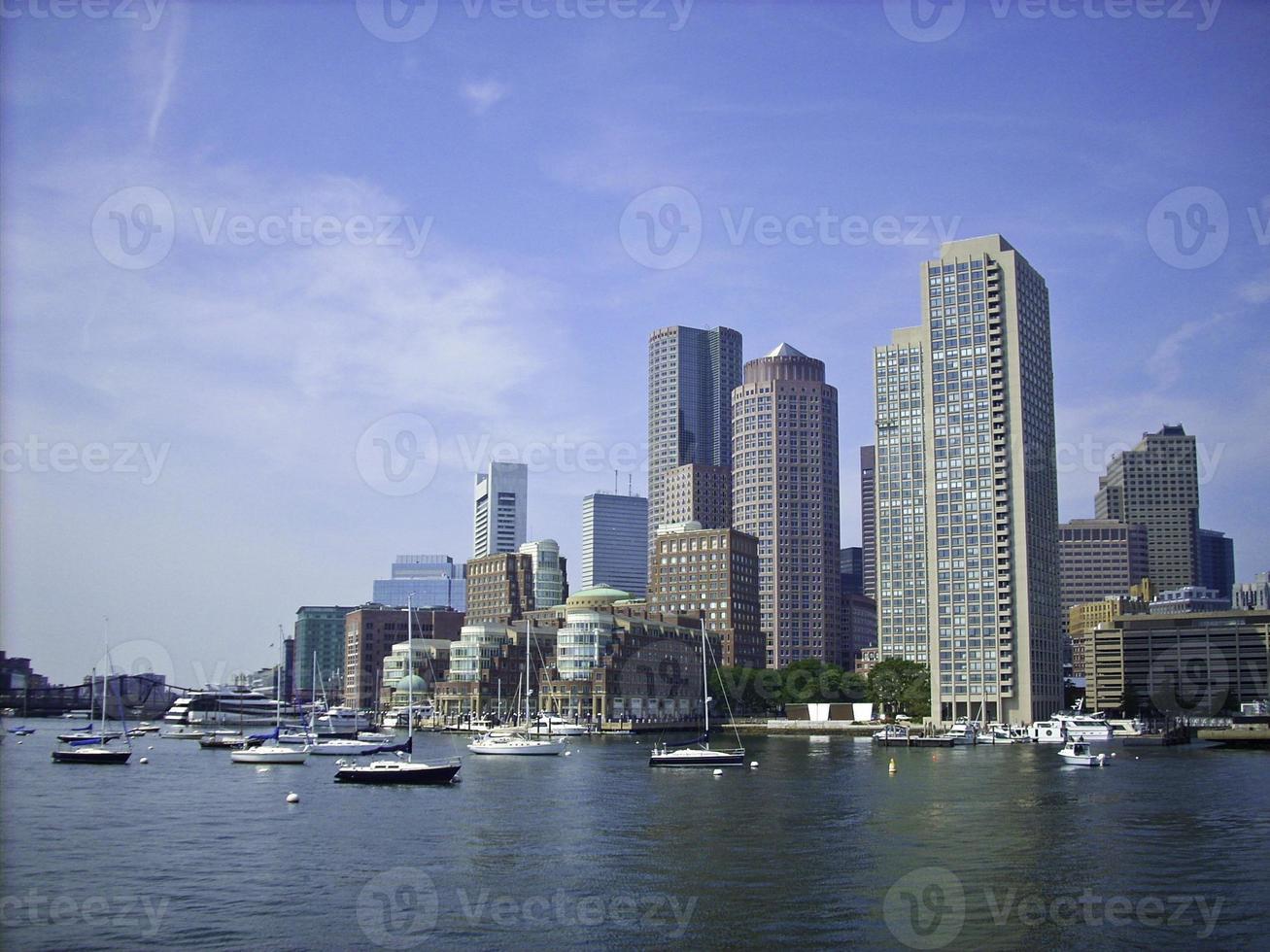 boston Harbor Skyline photo