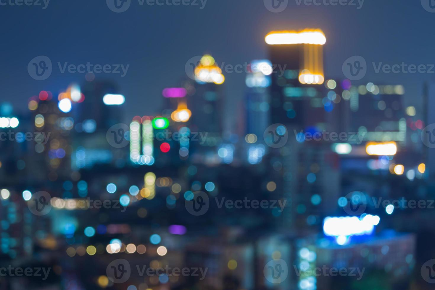 Abstract background big city bokeh lights at night photo