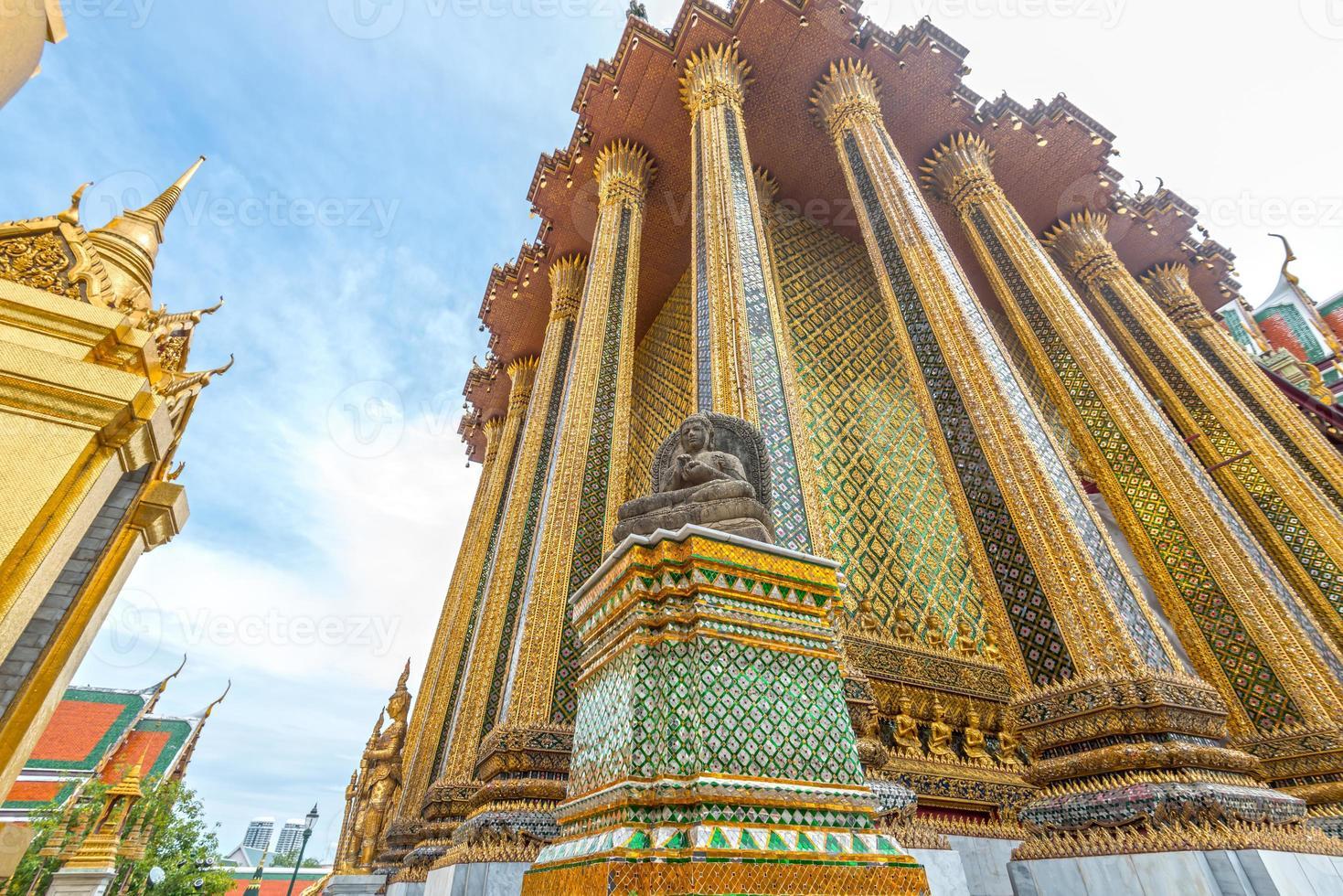 golden pagoda, Grand Palace, Bangkok, Thailand photo