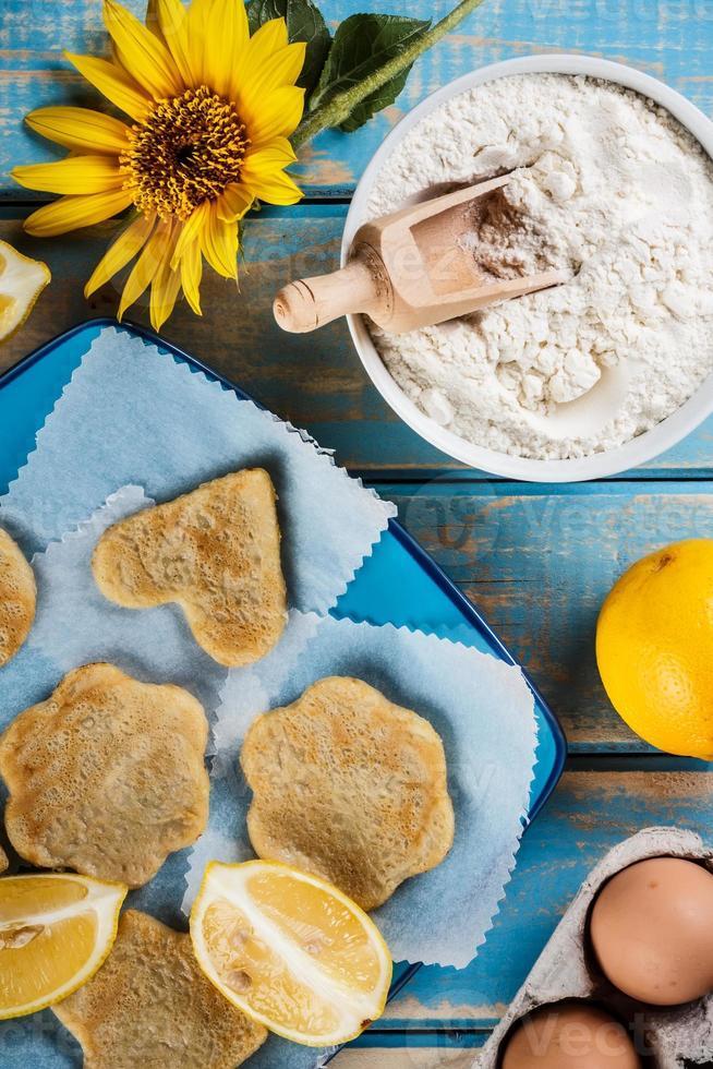 panqueques de limón foto