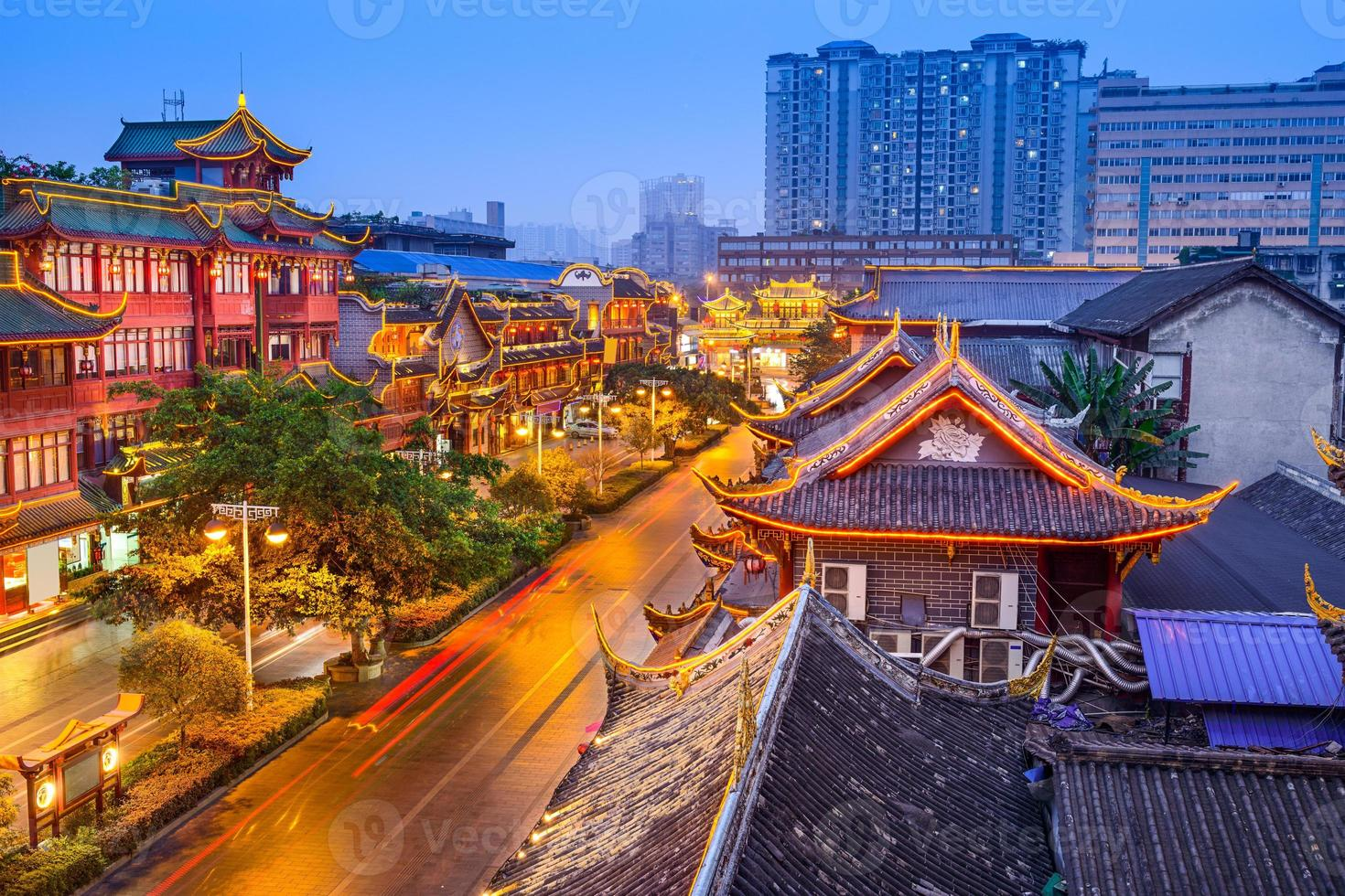 Chengdu China Historic District photo