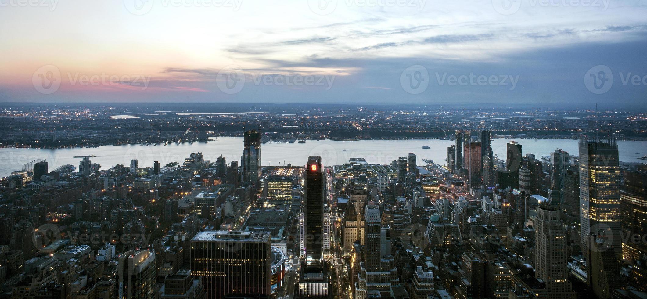 panorama de la ciudad de nueva york foto