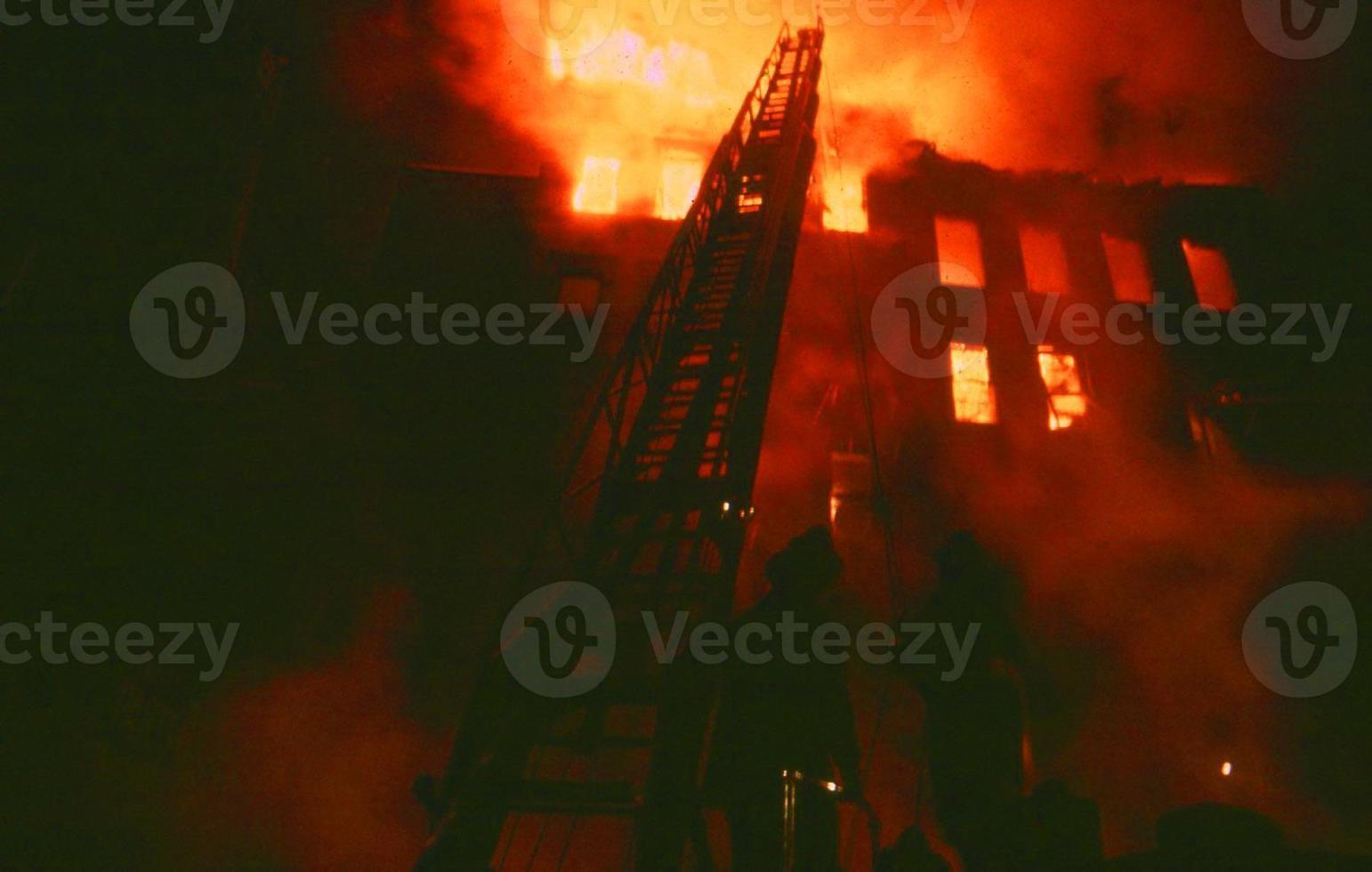 desastre de incendio en la ciudad de nueva york foto