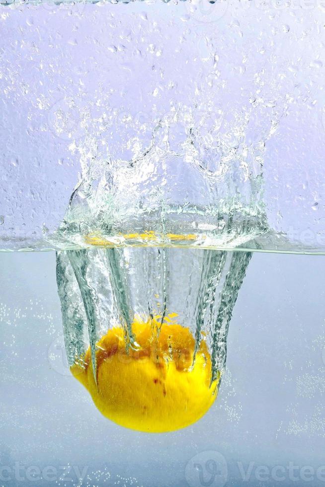 Lemon in water photo