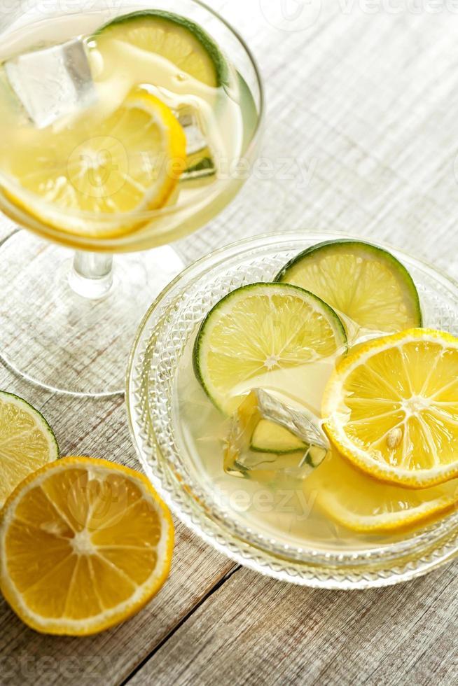 fresh iced juice with lemon photo