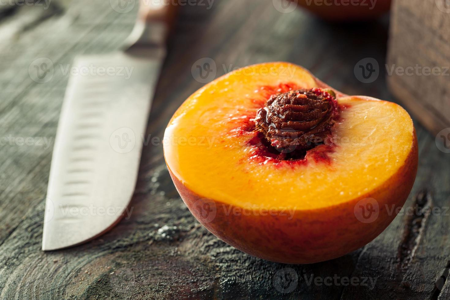 Raw Organic Yellow Peaches photo