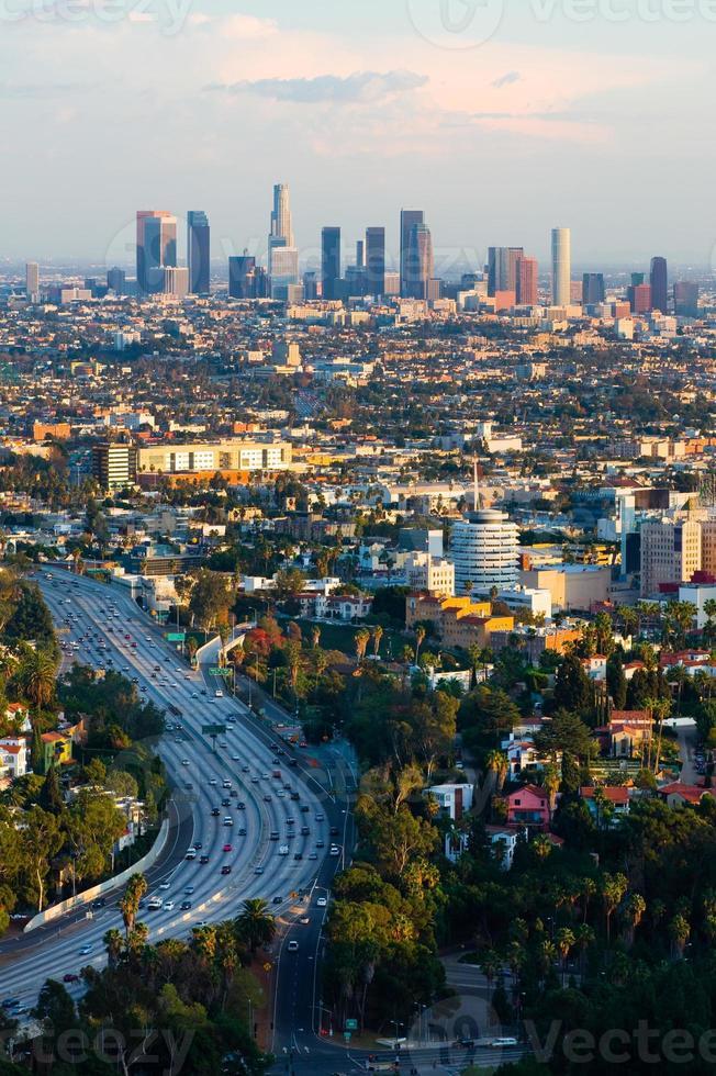 Los Angeles at sunset photo