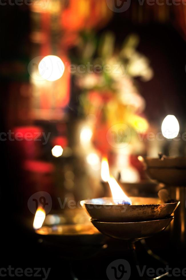 Flickering candle, Man Mo Temple, Sheung Wan, Hong Kong photo