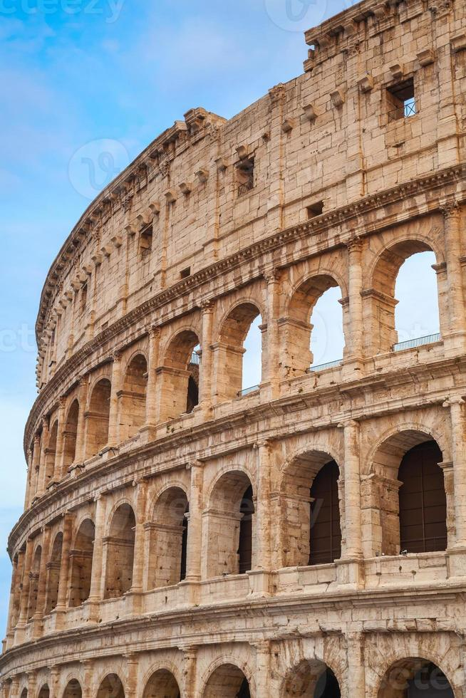 Exterior of the Colosseum in Rome photo