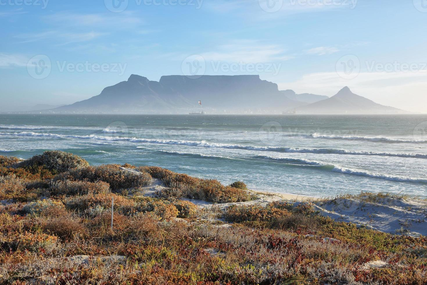 Views of Table Mountain at dawn photo