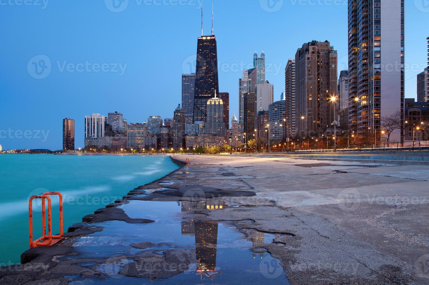 Horizonte de Chicago. foto