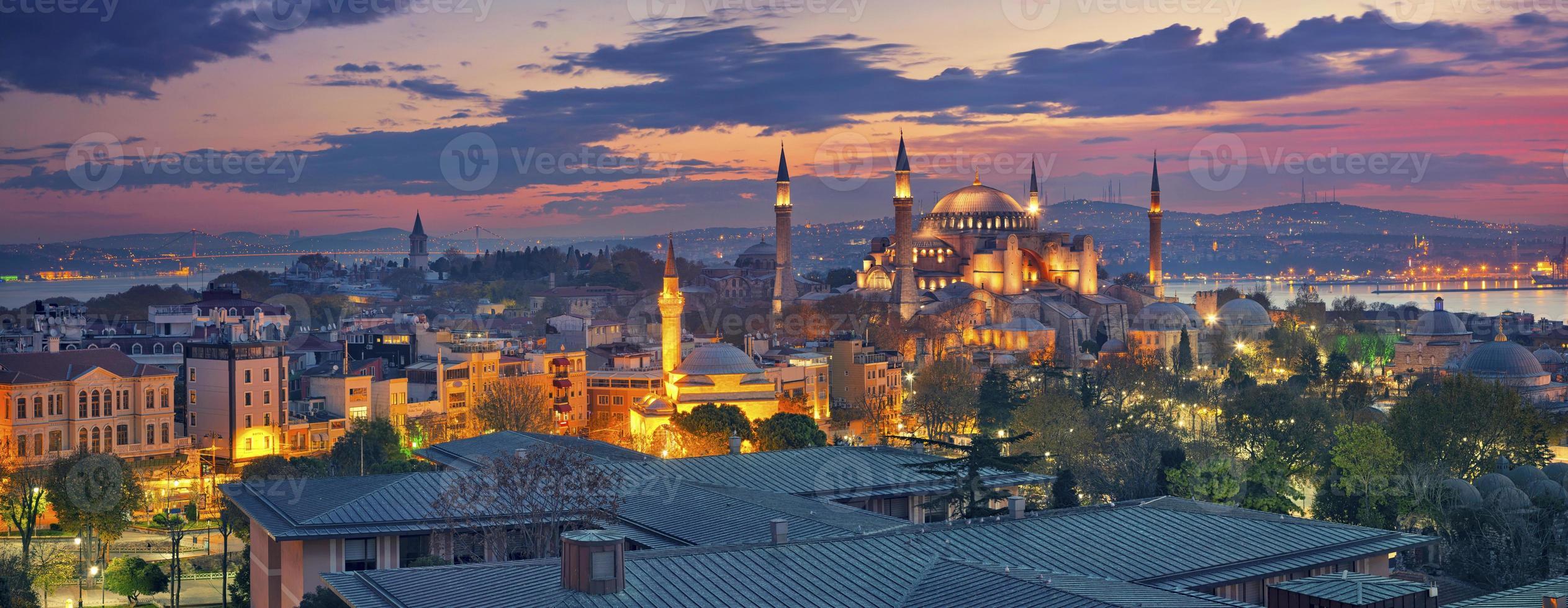 Panorama de Estambul. foto