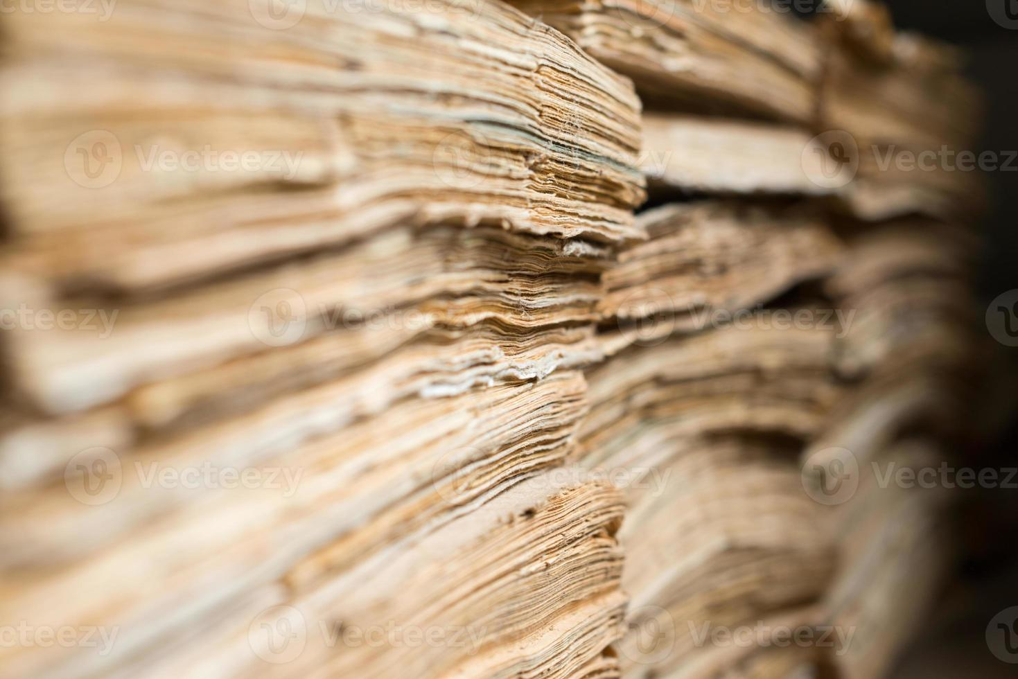 Old paper documents in the archive photo