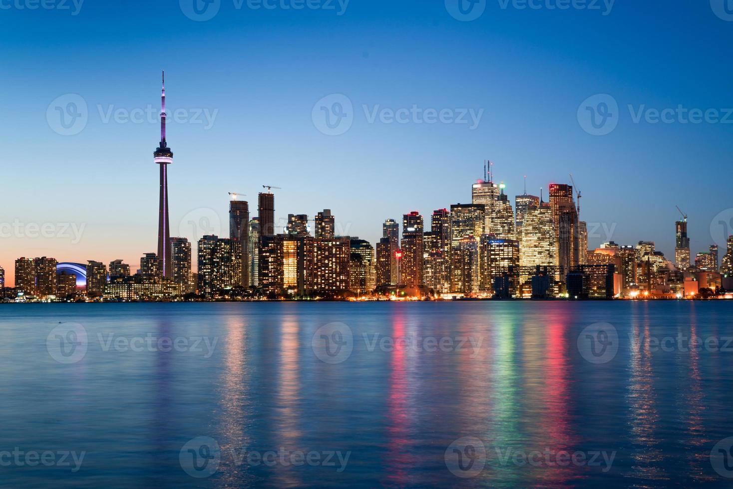 Night scene of downtown Toronto photo