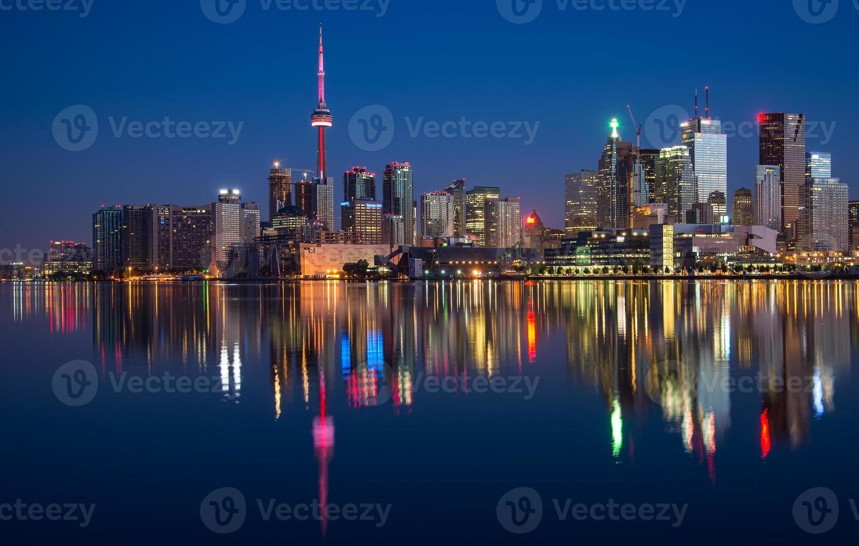Toronto City Skyline Reflection photo