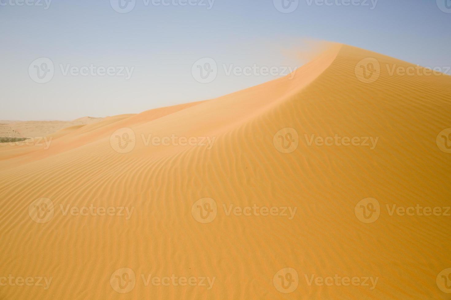 desierto de arena y un tejido de dunas amarillas foto