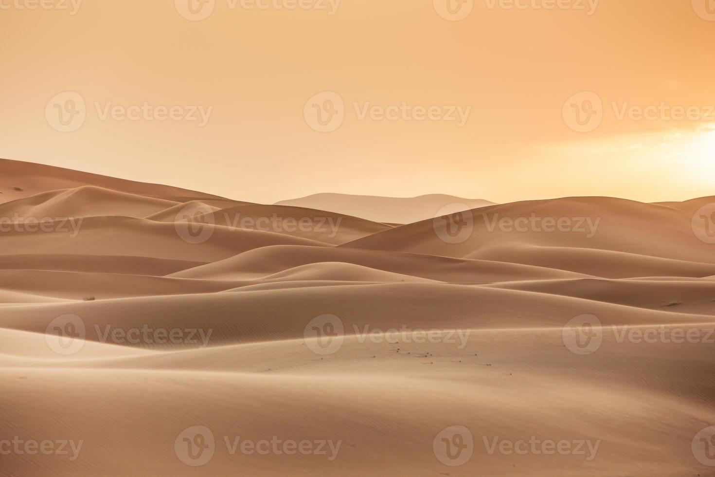 Sunrise in Erg Chebbi photo