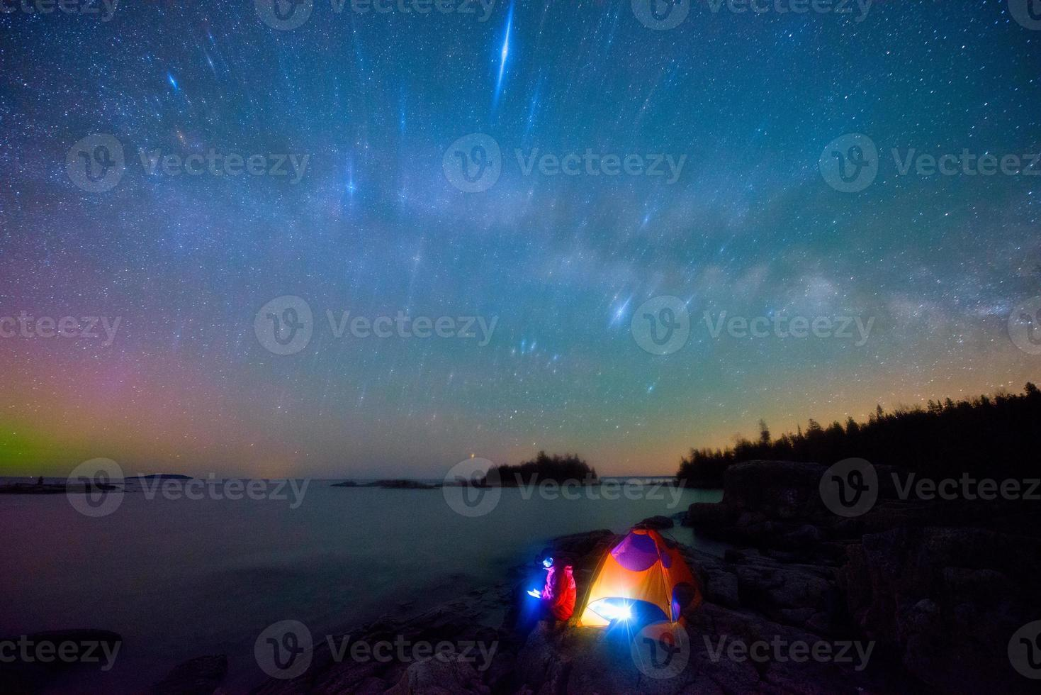 Milky Way and bruce peninsula photo