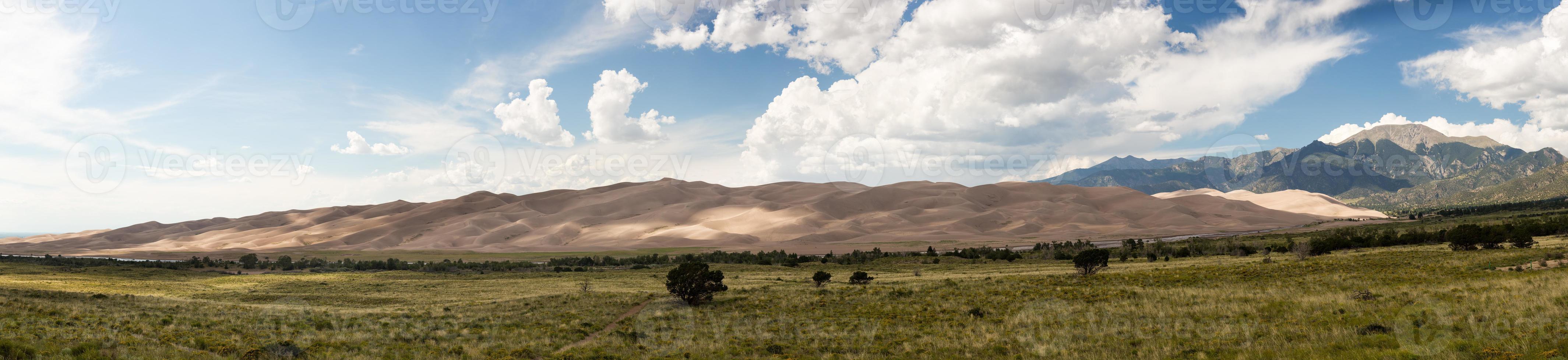 Panorama of Great Sand Dunes NP photo