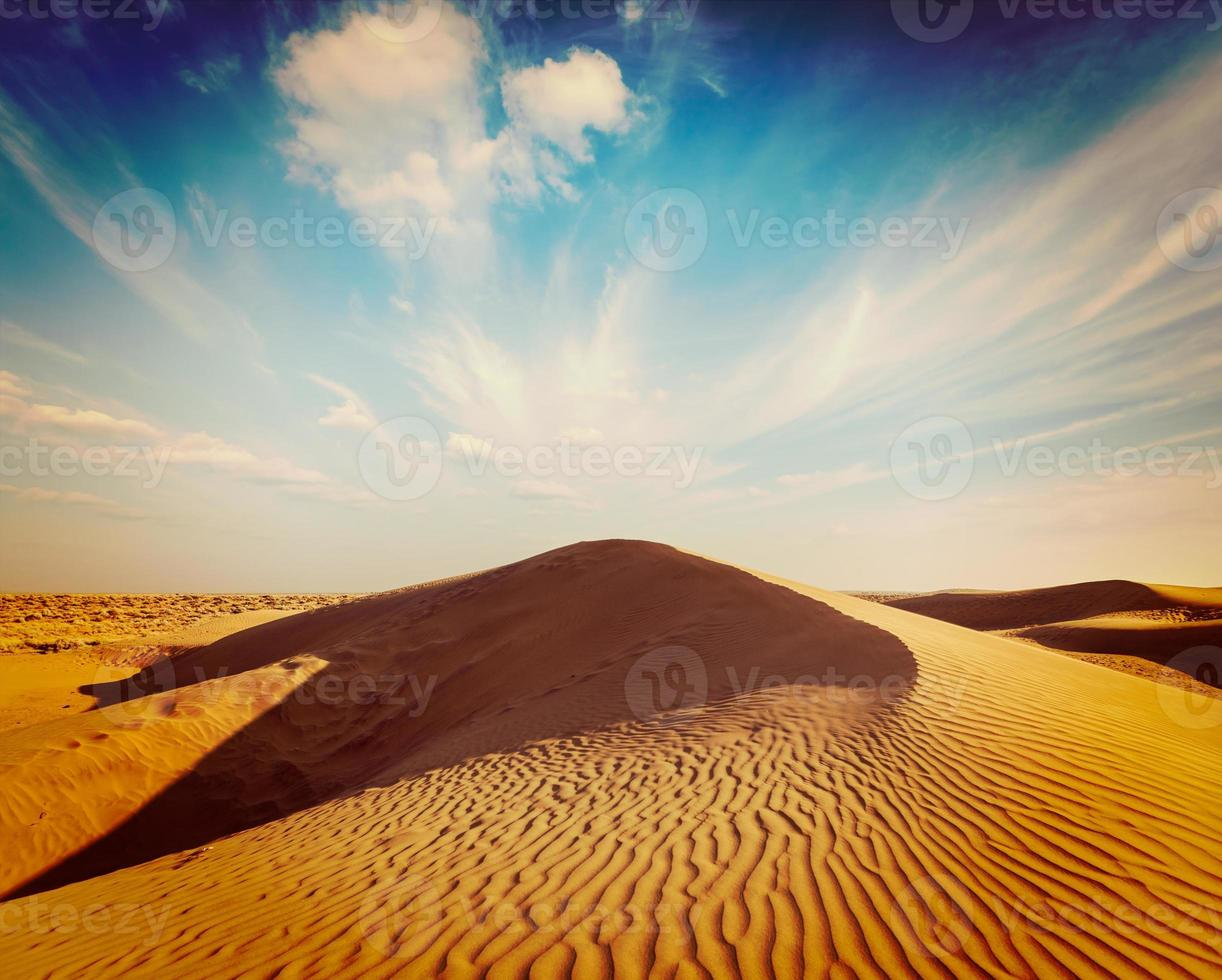 dunas del desierto de thar, rajasthan, india foto