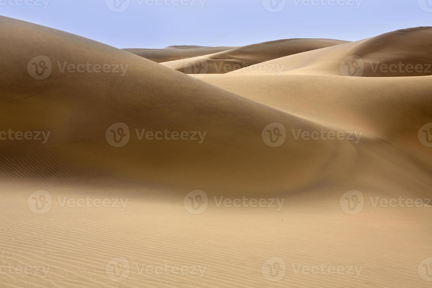 dunas del desierto arena en maspalomas gran canaria foto